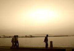 walking by the port (www.facebook.com/ThaliaNouarouPhotography) Tags: sea summer sky men sepia port wonderful walking aegean hellas greece thalia thali beautifull chios thalianouarou nouarou