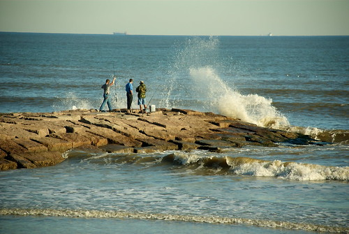 Galveston Seawall Rock Groin
