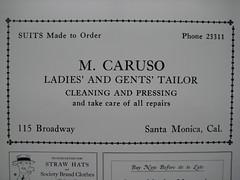 M. Caruso advertisement c 1920s