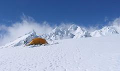 Ein einsames Zelt