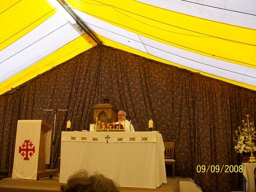 Ireland - - Holy Cross Abbey - mass in overflow tent