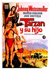 Tarzan y su hijo (jovisala47) Tags: cinema cine richard thorpe posters johnny maureen movies tarzan afiche hijo cartel osullivan carátula película weissmuller