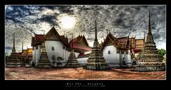 Wat Pho (d.r.i.p.) Tags: travel panorama architecture germany thailand deutschland nikon asia bangkok widescreen drip thai wat 180 hdr hdri watpho 18mm photomatix d80 hdrpanorama vertorama hdraward