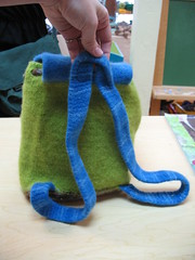 Cutest felted backpack ever (back)
