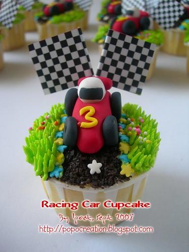Racing Car Cupcake