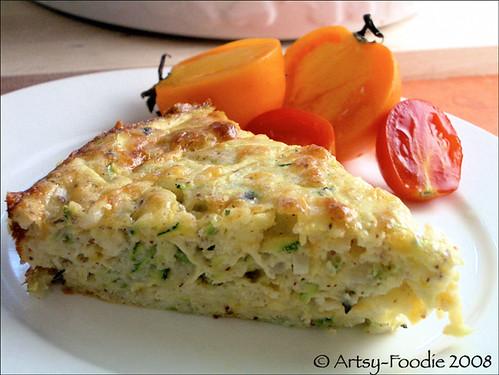 zucchini casserole slice