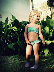 Summer. Bikini. What else? (Fancy daisies on my Crocs, maybe?) - by p!o