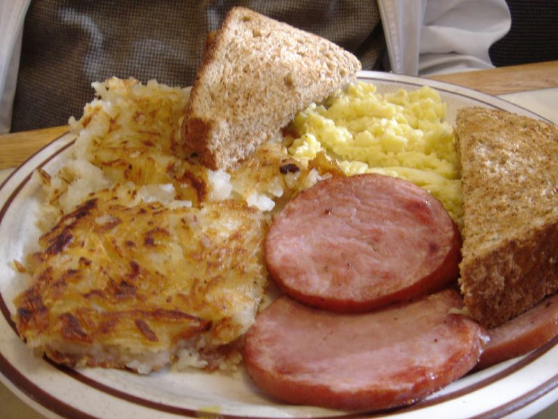 Canadian Bacon and Eggs