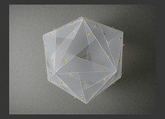 icosahedron (Sharon Pazner) Tags: geometric triangles israel 3d cut geometry jerusalem puzzle modular fold polygon ירושלים pp polyhedron geometria poliedro polyhedra geometrie polypropylene polyeder الرياضية الهندسة גאומטריה polyèdre sharonpazner שרוןפזנר γεωμετρία polyhedrapuzzle פאון פוליהדרון modularpoluhedra polyhedronpuzzle polypropene geometricpuzzle poliéder veelvlak poliedru многогранник mnohosten געאמעטריע