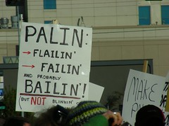 Palin: Flailin' Failin' and probably bailin'! (yksin) Tags: alaska politics rally protest anchorage accountability yksin abuseofpower sarahpalin troopergate taliscolberg