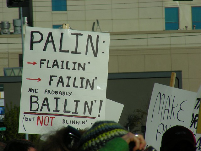 Palin: Flailin' Failin' and probably bailin'!