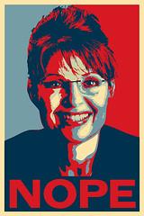Sarah Palin Nope Poster