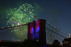 FIREWORKS OVER BKLYN BRIDGE (kevinh_photos) Tags: fireworks flag brooklynbridge 125thbirthday anawesomeshot kevinhphotos