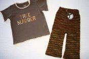 Tree Hugger - merino longies & t-shirt set - medium