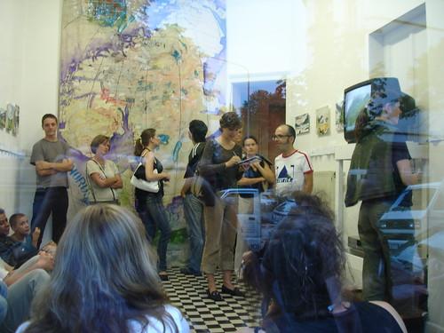 Ausstellung von Hayko Spittel und Jörg Rees im Kunstraum Wildwechsel. August 2006
