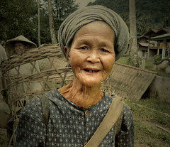 Enjoying the moment (Bn) Tags: southeastasia agriculture laos desperation portret topf100 vangvieng deprivation carpediem elderlywoman hardlife proverty worldtradeorganization 100faves enjoyingthemoment  hmongwoman hmongpeople farmerwoman laopeople friendlyhmongwomen collectingvegetables goingtomorningmarket riverbedwalk intheforestry unchangedyears timelessasia hardlifeinvangvieng leastdevelopedcountryinasia richincultureandhistory timelesslaos inefficientagriculturesector ikbenben smilingpeopleoflaos ssupportthemselves forhalfacentury