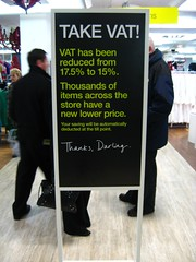 VAT notice in M&S