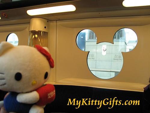 Hello Kitty on Disneyland Train, Hong Kong