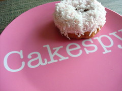 Pink Feather Boa Doughnut from Top Pot