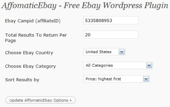eBay WordPress Plugin