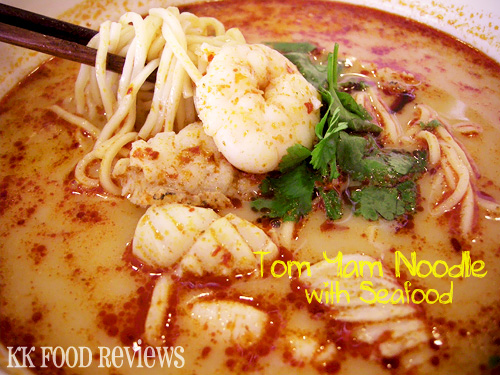 Tom Yam Noodle with Seafood
