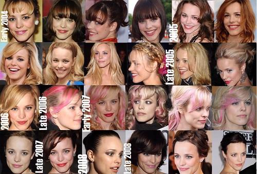 Rachel McAdams hairstyle timeline