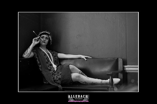 Flapper Smoking by Allebach Photography