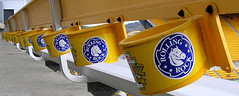 all in a row (inanna_the_fey) Tags: yellow heinzfield rollingrock cupholders