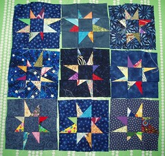 More stars..... (Sdeste) Tags: quilt rocketman wip quilting freepiecedstars