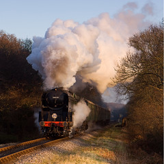Swanage Railway 10 - 34028 Eddystone, Quarr Farm (David Crosbie) Tags: searchthebest dorset eddystone harmanscross steamrailways swanagerailway uksteam 34028 heritagerailways railwaypreservation ultimateshot visiongroup flickrdiamond artistictreasurechest quarrfarm