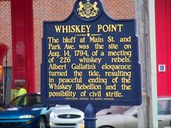 Whiskey Point Historical Marker - Monongahela, PA (jmd41280) Tags: pennsylvania monongahela albertgallatin 1794 washingtoncounty whiskeyrebellion whiskeypoint