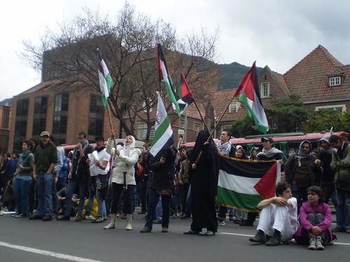 Marcha apoyo a Palestina / Gaza en Bogotá, Colombia - 20090106 - 1061805