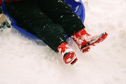 Snow boots...