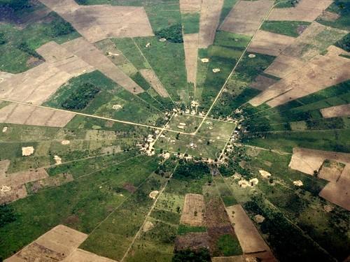 pie shaped settlements, bolivia