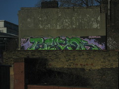 Revok MSK (Tatty Seaside Town) Tags: london rooftop graffiti graf waterloo msk revok trackside tattyseasidetown