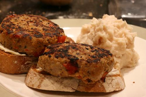 Turkey Burgers & Celeriac Mashed Potatoes