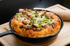 Deep Dish Cast Iron Pizza - 1 (Jim U) Tags: food macro home inspired pizza sony900 minolta85mm14grs alphadslra900