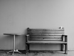 A tale of two lovers.. (-Maahy-) Tags: bw white black cup wall table chair ground athousandwords maahy