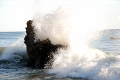 When waves and rocks collide... (Michael J Lynch) Tags: california ca sea usa sun beach rock photography one us photo scenery rocks waves break foto photographer unitedstates pacific photos cove offshore wave spray professional pch freeway waters coastline digitalcamera splash mikel collide breaking crashing pacificcoasthighway lsad nikond80 irishphotographer michaellynch limerickschoolofartanddesign nikonflickraward michaellynchphotography wwwmichaellynchphotographycom michealoloinsigh artcollegegraduate fermoycocorkireland