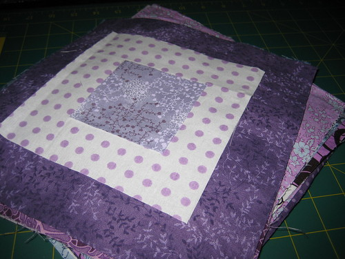 Squares Cut for Ragged Quilt
