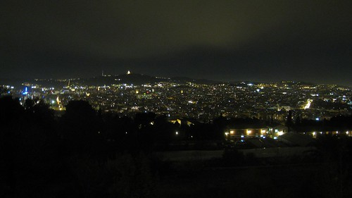 Central Barcelona at night