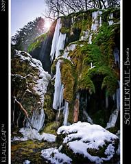 SCHLEIERFLLE - Bavaria (Klaus_GAP - taking a timeout) Tags: green geotagged bayern bavaria frozen waterfall moss wasserfall falls icicle grn eiszapfen schleierflle naturememorial