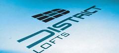 District Lofts Logo - Photographed (mitch.miami) Tags: photoshop magazine print logo graphicdesign 3d adobe packaging illustrator trump brand artdirection creatix mitchgrossman