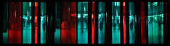 she's waiting (monkeymillions) Tags: red black green london waiting triptych tatemodern gels fifteen