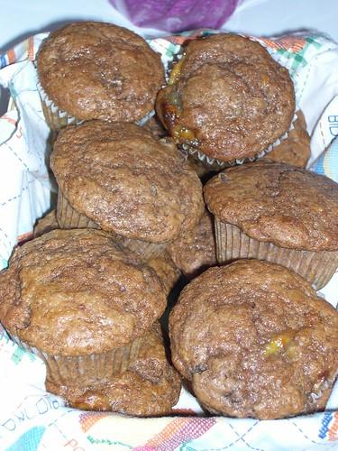 MUFFINS DE CHOCOLATE Y PLATANO