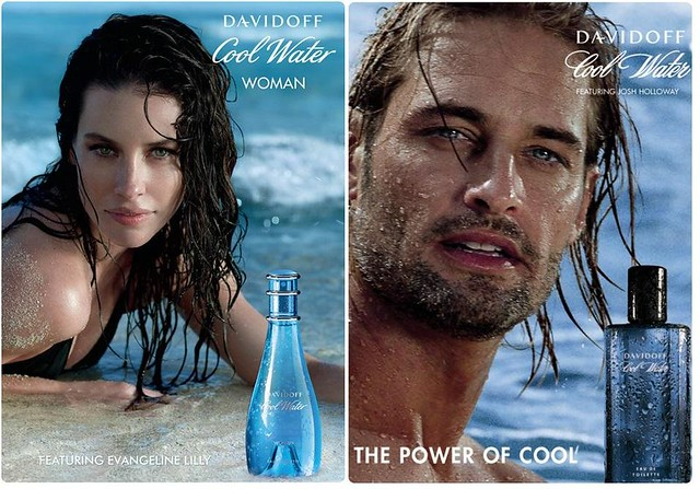 water lost cool perfume ad josh lilly holloway wate davidoff evageline