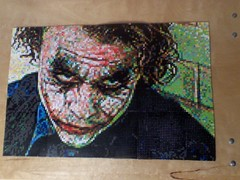 Perler Beads Joker Mosaic (Joel Wintersteller) Tags: art beads mosaic batman joker bead perler heathledger thedarkknight