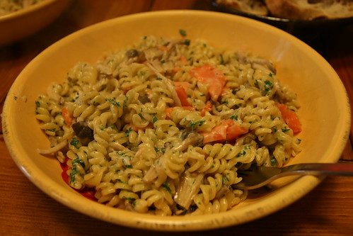 Smoked Salmon with Whiskey Cream Pasta