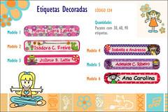 Etiquetas Termocolantes decoradas femininas