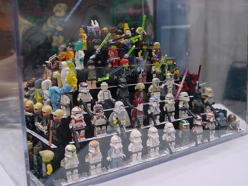 Custom Lego minifigs on display